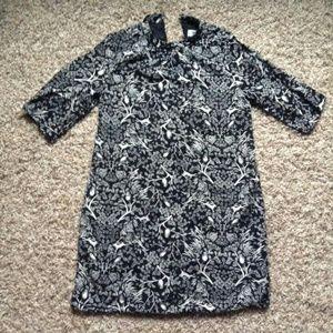 Nature Print Shift Dress